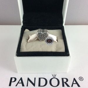 New Pandora Filled With Romance Charm 791811